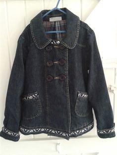 Embellished Baby Blues Denim Duster Coat £20.00 See https://folksy.com/shops/sldelaney