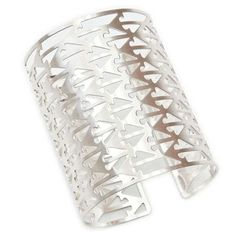 Etched Cuff Brushed Silver Plate, $29, now featured on Fab.