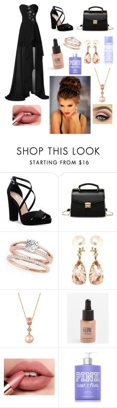 """""""My prom night wish🖤💙💗"""" by riley-10-6 ❤ liked on Polyvore featuring Nina, Valentin Magro, LE VIAN, Topshop and Victoria's Secret PINK"""