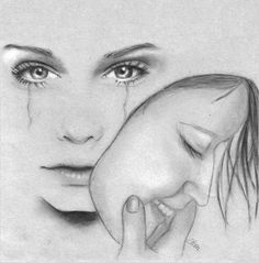 How to Draw like a Master Artist, pencil drawing, how to draw portraits, Art Drawings Sketches Simple, Sad Drawings, Girl Drawing Sketches, Dark Art Drawings, Pencil Art Drawings, Emotional Drawings, Art Amour, Arte Obscura, Pencil Art