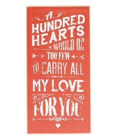 Loving this '... My Love For You' Wall Sign on #zulily! #zulilyfinds