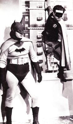 Lewis Wilson (Batman) & Douglas Croft (Robin) In the first Batman serial in 1943