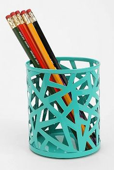 Geo Cutout Pencil Cup URBAN OUTFITTERS ($6)