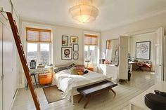 sypialnia z gabinetem obok, Kopenhaga, zdjęcie: Nybolig