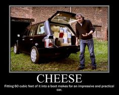 Classic car test from Jeremy Clarkson. I guess he had Wallace and Grommet in mind. Thing is, he needs crackers... :)