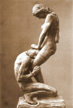 Sculpture by Gustav Vigeland. This is my favorite piece, in the studio. Another favorite is in the Oslo National Museum. Carved from wood I haven;t found a photo.