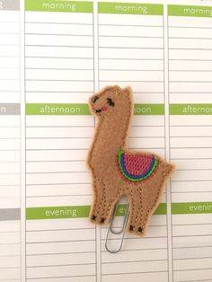 Llama planner clip ~ llama bookmark ~ planner accessories ~ llama feltie ~ llama felt paperclip This smiling llama is happy to keep your place in your planner or book. Llama measures tall and wide. Felt Diy, Felt Crafts, Crafts To Make, Alpacas, Llama Christmas, Cute Sewing Projects, Fabric Cards, Cute Llama, Yarn Thread