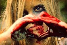 This is not a cute little zombie girl making a hand heart, no! It is a zombie girl looking at you pretending to get ready to bite into a Brain McBurger supplied by you! Zombies, Zombie Rules, Death Becomes Her, Dark Artwork, Zombie Girl, The Heart Of Man, Special Effects Makeup, Stuff And Thangs, Figure It Out