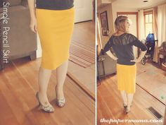 DIY pencil skirt