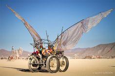 Love this art car. Like something out of a fantasy film. #BurningMan