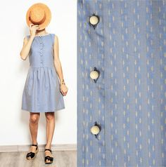 button up smock dress