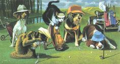 Bryan Moon Mousetrap Signed Lithograph Framed Cats Dogs Out For a Round of Golf in Art, Art from Dealers & Resellers, Prints | eBay