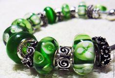 Купить Зелёный круговорот Браслет Пандора 11 - ярко-зелёный, пандора, пандора стиль