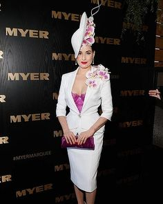 Dita Von Teese attends the Myer marquee during Melbourne Cup Day at Flemington Racecourse on November 5, 2013 in Melbourne, Australia.
