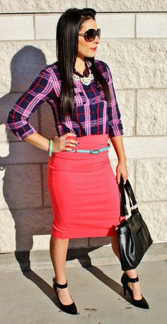 Plaid Chic:Making Plaid a little more sophisticated