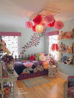 I love how magical and feminine this room is decorated!