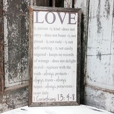 Hey, I found this really awesome Etsy listing at https://www.etsy.com/listing/248325571/love-is-patient-love-is-kind-sign-1