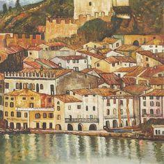 Malcesine on Lake Garda,1913 by Gustav Klimt: 24 x 24 Oil Painting Reproduction