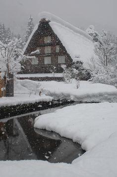 大寒の白川郷  2012.2.3