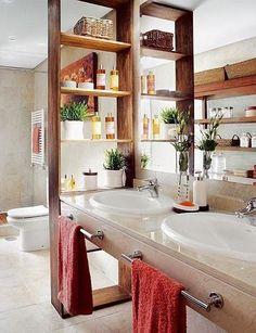 divisor de espacio para baño