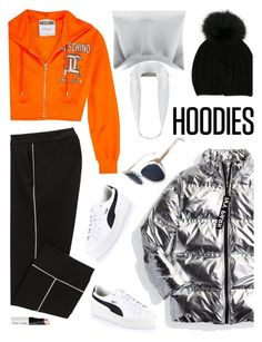 """""""05. Comfy Hoodie Style :)"""" by milva-bg ❤ liked on Polyvore featuring Ivy Park, Puma, Joseph, Moschino, Jil Sander, Pared and Bobbi Brown Cosmetics"""