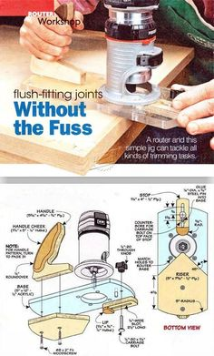 WoodArchivist is a Woodworking resource site which focuses on Woodworking Projects, Plans, Tips, Jigs, Tools Woodworking Skills, Router Woodworking, Woodworking Shop, Woodworking Projects, Trim Router, Router Jig, Awesome Woodworking Ideas, Woodworking Inspiration, Router Projects