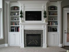 built in tv cabinets around fireplace - Google Search