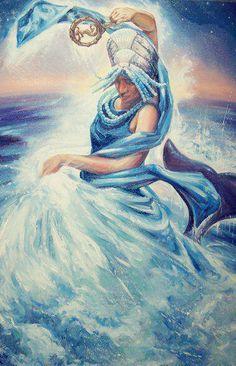 Yemayá  Goddess Of The Sea by Wendell Wiggins