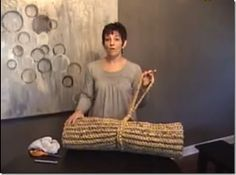 How to crochet a plastic sleeping mat from plastic grocery bags to take to camp or even better: to help the homeless...