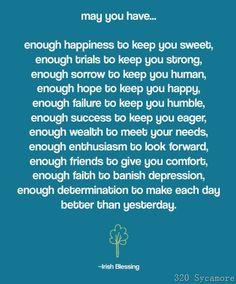 Cute quote! (Irish blessing)