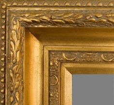 """Beautiful Picture Frame! Perfect For Artwork, Photographs, Canvas Paintings, Oil Paintings, Watercolor Paintings, Acrylic Paintings, Portraits, Wedding Pictures, Diplomas, Family Photographs & More. Gold Museum Style Ornate 5.75"""" Wide Picture Frame."""