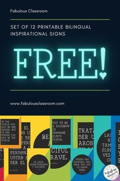 Want to be the first to know about new resources, upcoming sales, & free products? Even better, how about also getting this set of 12 inspirational signs in English & Spanish) for FREE? Grab it now by clicking!! #edchat #langchat #teachertwitter #teaching #TEACHers Spanish Teaching Resources, Parent Resources, Teaching Strategies, Teaching Tips, Homeschooling Resources, Spanish Lesson Plans, Spanish Lessons, Spanish Classroom Decor, Classroom Ideas