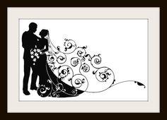 Wedding Couple Silhouette Cross Stitch Pattern | Los Angeles Needlework