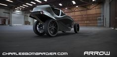 The sexy three-wheeled Arrow is infused with a healthy dose of practical eco-friendliness as well.