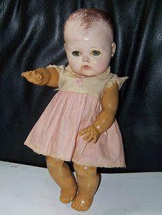 "1950s Tiny Tears 13"" Doll American Character w Original Dress Ame Character | eBay"