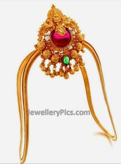 Fulfill a Wedding Tradition with Estate Bridal Jewelry Vanki Designs Jewellery, Indian Jewellery Design, Indian Jewelry, Jewelry Design, Vaddanam Designs, Antique Jewelry, Gold Jewelry, Cuff Jewelry, Jewelry Accessories