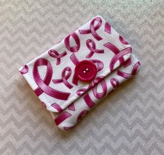 A personal favorite from my Etsy shop https://www.etsy.com/listing/570735586/credit-card-holder-pink-ribbon-fabric