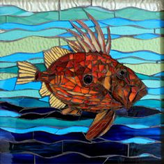 Mosaic Artists Gallery of Small Art Mosaics - Showcase Mosaics - this one is in the small images gallery Great gallery!!