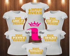 Birthday Queen Shirt Squad Friend Party Womens