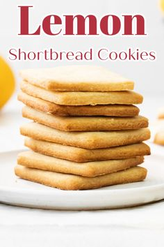 Lemon Shortbread Cookies - A delicious spin on classic shortbread cookies made with lemon! These cookies are perfect! Cookie Recipes | Shortbread Cookies | Lemon Cookies | Lemon Shortbread Cookie Recipe #lemon #cookies Homemade Shortbread, Lemon Shortbread Cookies, Lemon Sugar Cookies, Lavender Shortbread, Peanut Butter Cookies, Delicious Cookie Recipes, Holiday Cookie Recipes, Best Cookie Recipes, Yummy Cookies