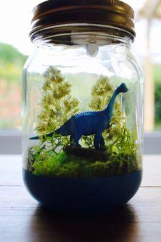 Light-up Dinosaur Jar by TheLittleJarRoom on Etsy