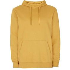 Mustard Yellow Overhead Hoodie (2.000 UYU) ❤ liked on Polyvore featuring tops, hoodies, sweaters, yellow, topman, yellow top, yellow hooded sweatshirt, yellow hoodie, brown hoodie and sweatshirt hoodies