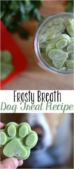Frosty breath homemade dog treat recipe