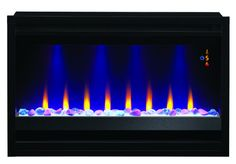 The Builders Box Contemporary Electric Fireplace Insert will update the look of your home instantly. Wall Fireplaces, Fireplace Wall, Contemporary Electric Fireplace, Electric Fireplace Insert, Fireplace Inserts, Living Room Remodel, Mantels, Energy Efficiency, Detail