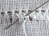 Deckchen mit Myreschkastickerei