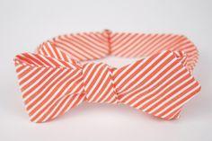 Stripy bow tie