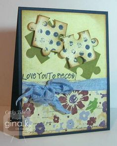 Love you to pieces! by catdidit - Cards and Paper Crafts at Splitcoaststampers