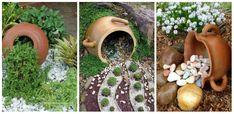 Diversificam decorul in gradina cu aceste idei de amenajari cu ghivece si pietre de rau  Diversificam decorul in gradina cu aceste idei de amenajari cu ghivece mari si pietre. Iata un subiect cu care vrem sa Garden Sculpture, Outdoor Decor, Garden Ideas, Home Decor, Garden, Homemade Home Decor, Landscaping Ideas, Backyard Ideas, Decoration Home