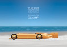 Land Speed Record: Golden Arrow print by Alex Greenhead