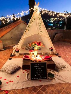 Birthday Room Decorations, Tent Decorations, Anniversary Decorations, Wedding Decorations, Romantic Room Surprise, Romantic Date Night Ideas, Romantic Dates, Romantic Birthday, Romantic Candles